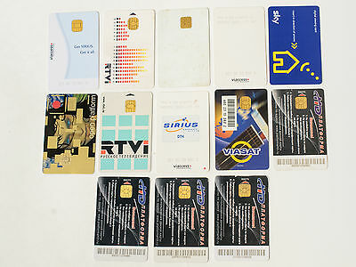 Lot of 14 Viewing Satellite Cards (Sky, Viasat , etc. )