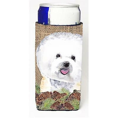 Bichon Frise Michelob Ultra bottle sleeves For Slim Cans 12 oz.