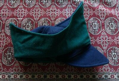 17th Century wool Montero cap Blue and Green