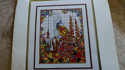 Peacock - stained glass window / Tiffany - Pattern Booklet BN