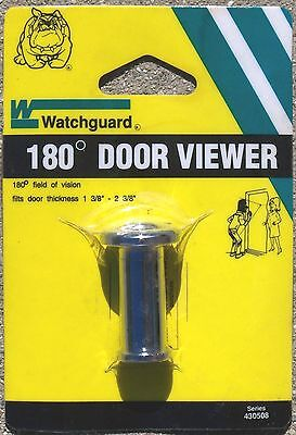"Watchguard Peek Hole 180° Security Door Viewer - Bright Chrome1-3/8"" to 2-3/8"""
