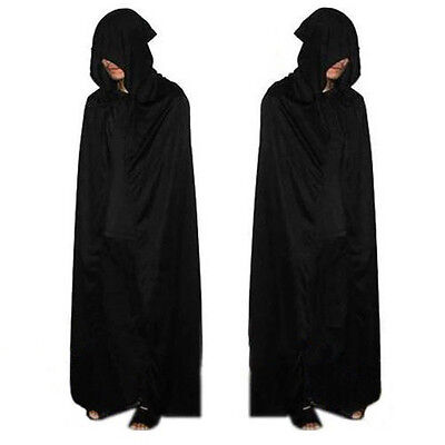 Cosplay Halloween Costume Cape wizard Grim Reaper Cloak Manteau pluvial Party gn