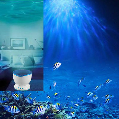 Ocean Daren Waves LED Night Light Projector Romantic Relaxing Lamp Speaker MG