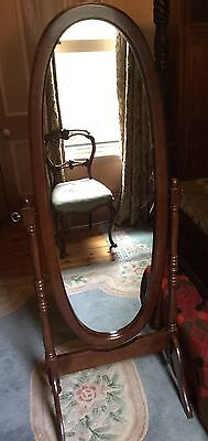 Antique style Cheval mirror Mahogony Colour,Excellent condition