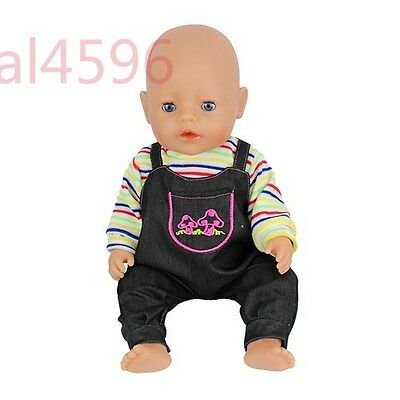 1set color jumpsuit clothes Wearfor 43cm Baby Born zapf (only sell clothes )
