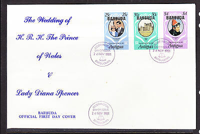 Barbuda 1981 Royal Wedding - Charles & Diana Wedding -  FDC