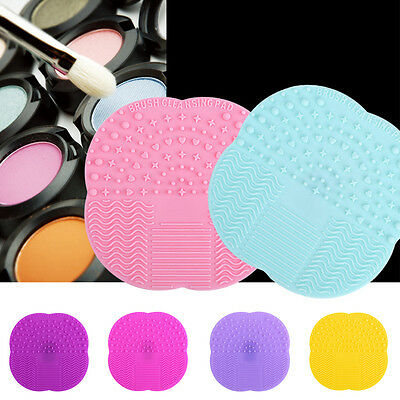 For Makeup Brush Cleaner Cleaning Cosmetic Scrubber Board Pad Mat Silicone