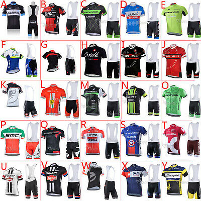 25 Style! 2016 Full Zipper New cycling jersey and bib shorts Race Fit GEL padded