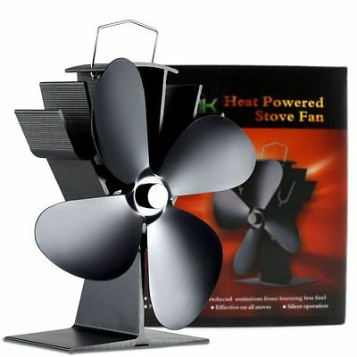 Newly Design Heat Powered Wood Burning Mini Stove Top Fan - Eco Friendly Black