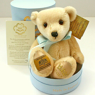 Royal Collection Baby Prince George Limited Edition Teddy Bear by MERRYTHOUGHT
