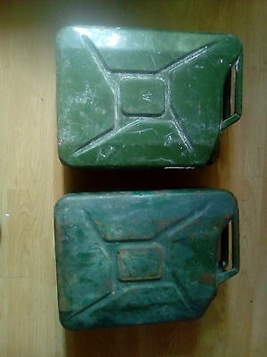 Petrol jerry cans ... Both 20 litres ... COLLECTION ONLY ...