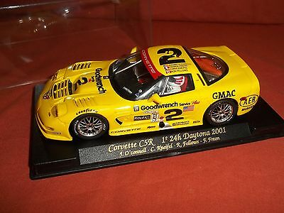 FLY  Scalextric Slot car CORVETTE C5R 1 24H DAYTONA 2001