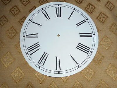 "Round Paper Clock Dial-   6"" M/T - Longer Roman Numerals - Faces/Clock parts"