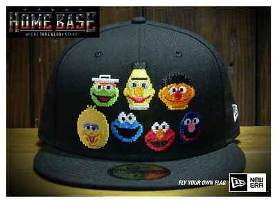 New Era Japan Limited Edition 59FIFTY Sesame Street Elmo Cookie Monster Oscar