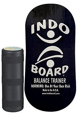Indo Rocker Balance Board with Roller Black