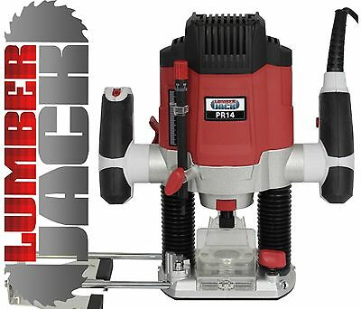 "Lumberjack Heavy Duty 1200W 1/4"" Electric Plunge Router with Variable Speed 240v"
