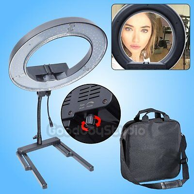 Diva Dimmable 40W 34cm LED Table Top Ring Light Beauty Makeup Selfie Photo Video