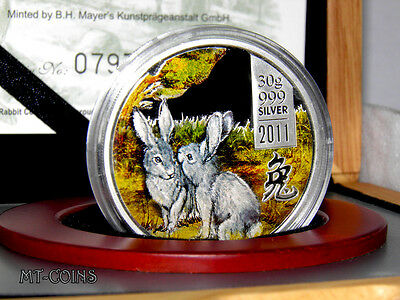 Cook Islands 2011 5$ Lunar The Year of the Rabbit Silver Proof Coin