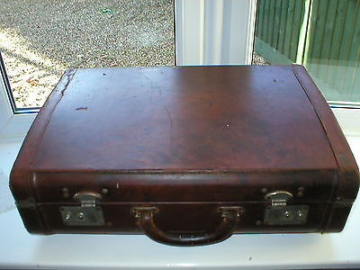 Vintage Real Leather Suitcase