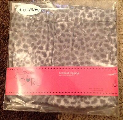 Emma Bunton Girls Soft Leopard Print Jeggings Age 4-5 Brand New In Pack