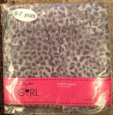 Emma Bunton Girls Soft Leopard Print Jeggings Age 6-7 Brand New In Pack