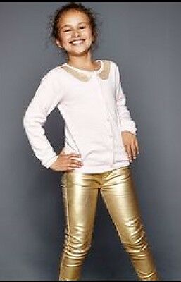 Girls Soft Metallic Jeggings By Emma Bunton Age 4-5 Brand New In Pack