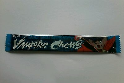 Vampire Sour Blue Raspberry Chewy Bars (packet of 5 Bars), 18g each