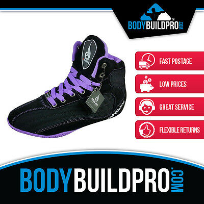 Ryderwear Raptors Black/purple * Bodybuilding Shoes * Gym Training * Hightop