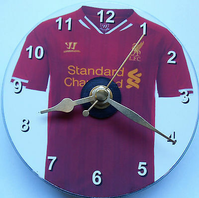 Football cd clock with Liverpool shirt on clock face