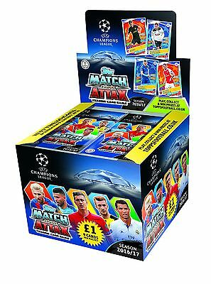 Topps Match Attax CHAMPIONS LEAGUE 2016/17 50 Pack Box +10 Promo Packs 350 Cards