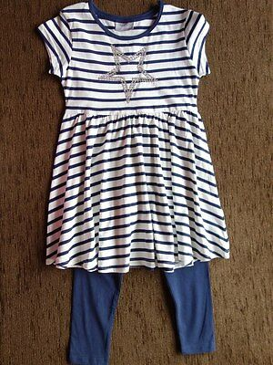 Girls' 2 Piece Set Outfit Dress Leggings 5 Years New with Tags Matalan