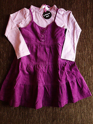Girls' 2 Piece Set Dress and Long-Sleeved Top 2-3 Years 98cm New with Tags PB