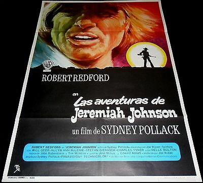 1972 Jeremiah Johnson  ORIGINAL SPAIN POSTER Robert Redford Sydney Pollack