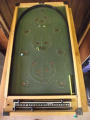 Vintage Kays Bagatelle Board - All Complete And Ready To Play