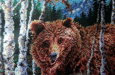"Craftways Latch Hook Rug  Kit  ""grizzly Bear"""