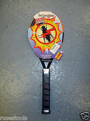 "1 x ""The Executioner"" Electronic Bug / Fly / Insect Zapper - Tennis Racket Style"