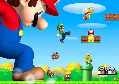 Unofficial SUPER MARIO BROS. (2) *Glossy* A4 print Poster - new nintendo mickey