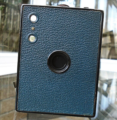 Kodak No. 2 Brownie in Blue with case Made in Great Britain