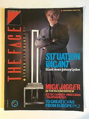 The Face: No44: December 1983, Johnny Lydon, Mick Jagger, Mike Leigh  etc