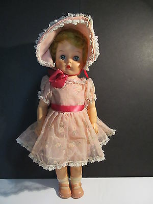"Vintage  17"" Doll - Sleepy Eyes, Crier (Not Working) - Fully Dressed  - Unmarked"