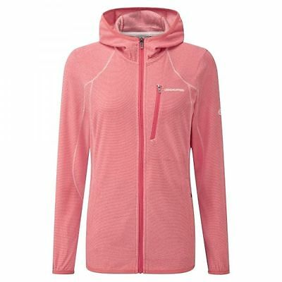 Craghoppers Womens ProLite Fleece Jumper Hoodie in Candy Red **RRP £40**