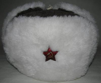 Soviet Ushanka winter hat officers Red Army with Red Star type 1940 WW2  Replica