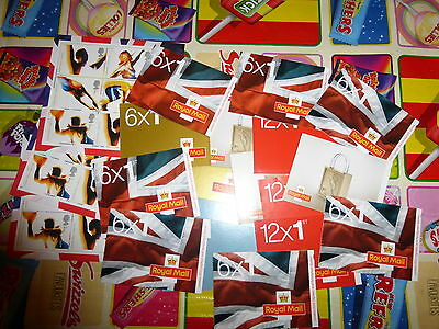 48 First Class New 1st Class Royal Mail Letter Stamps-books of 1st class