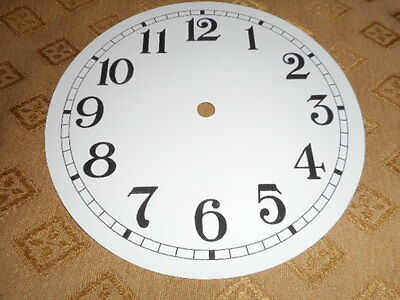 "Round Paper Clock Dial - 8"" M/T - Arabic- High Gloss White - Face/ Clock Parts"