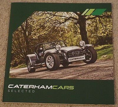 2015 Caterham Cars 7 Seven ' Selected ' Approved Used Car / Warranty Brochure