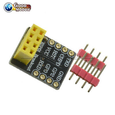 ESP8266 ESP-01S ESP-01 Wireless Transceiver Module+Breakout Breadboard Adapter G