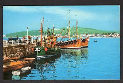 """THE HARBOUR, LARGS""  Postcard Scotland Ayrshire"