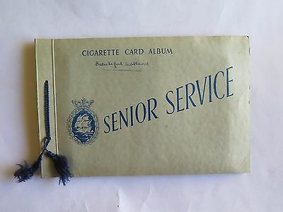 Senior Service Cigarette Card Album Beautiful Scotland. Complete Set of 48.