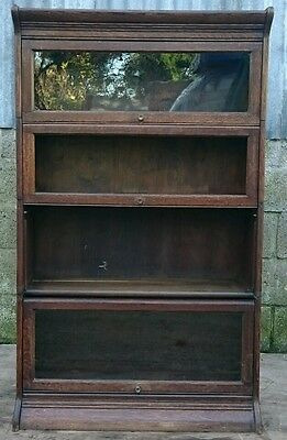 Antique Oak Globe Wernicke Style Sectional Display Cabinet, for Minor Renovation