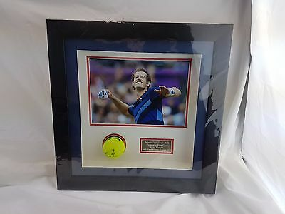 Andy Murray World No.1 Framed Signed Tennis Ball 2012 Olympic Gold